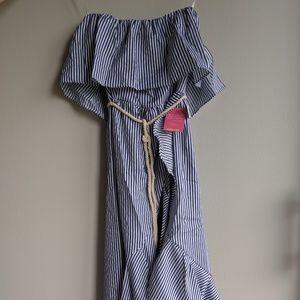 Never worn tagson NavyWhite Stripe Dress Rope belt